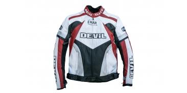 Moto bunda Devil Slayer červeno bílá