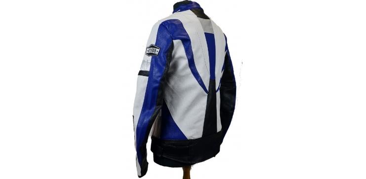 Moto bunda Devil Slayer modro bílá